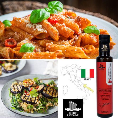 ペペロンチーノと料理写真
