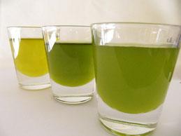 オイルの色は熟度、品種、搾り方によって異なってくる